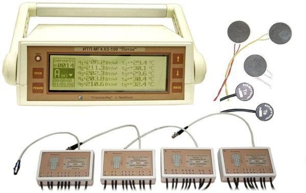 Измеритель плотности тепловых потоков и температуры 100-канальный ИТП-МГ4.03/Х(II) «Поток»